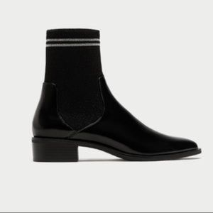 Zara Shoes - NWT ZARA Black Sock Ankle Boots